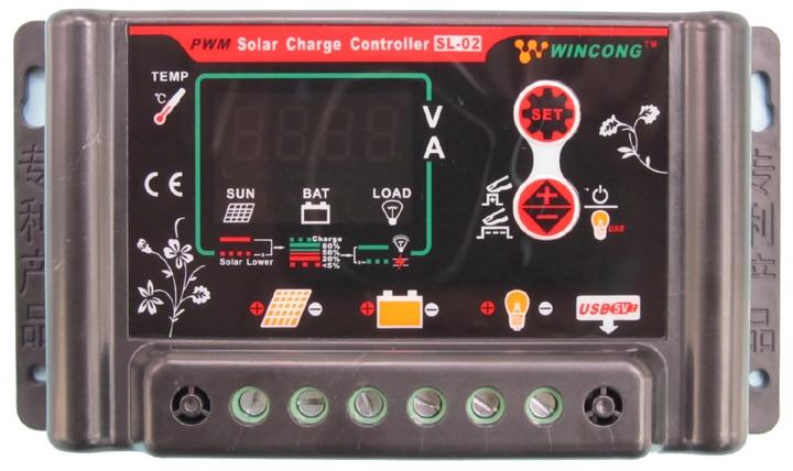 10A 12VDC 24VDC Li Li ion Lithium LiFePO4 batteries Solar