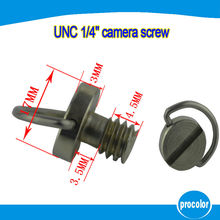10 pcs Retail sales camera accessories 1/4″ UNC screw with D-ring for tripods ball head and quick release plate