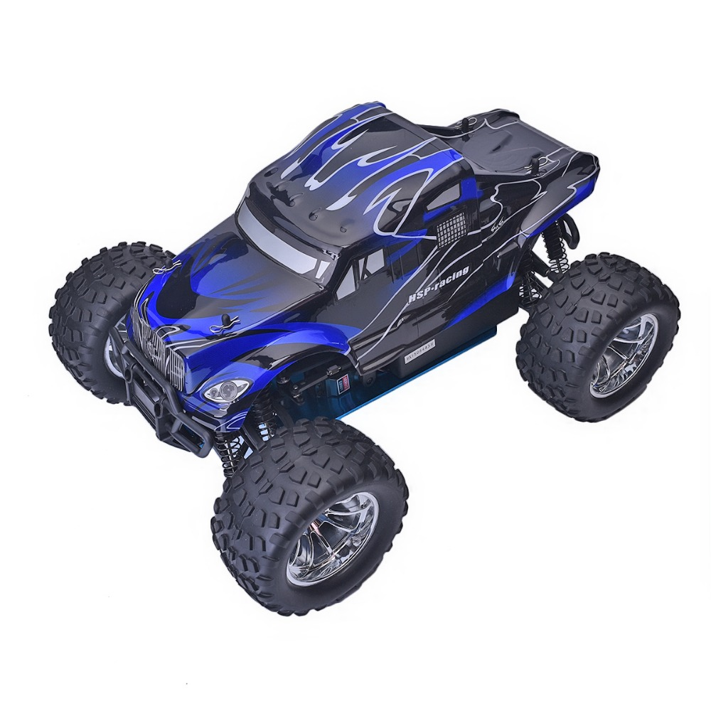 HSP 94188 Rc Racing Car 1/10 Scale Nitro Power 4wd Off Road Monster Truck Pivot Ball Suspension Two Speed Remote Control Car 02023 clutch bell double gears 19t 24t for rc hsp 1 10th 4wd on road off road car truck silver