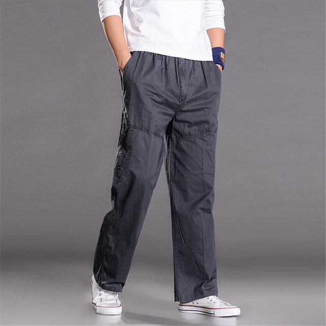 6Xl Más Tamaño Guardapolvos Hombres Loose Casual Para Hombre Pantalones Cargo Holgados Nueva Llegada Multi Bolsillo Pantalones de Hip Hop A938