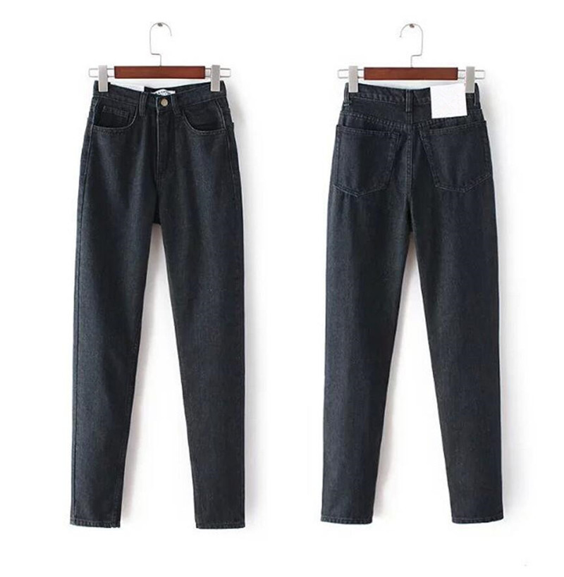 Euro Style Pencil Jeans High Quality Pants Women High Waist Jeans