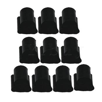 Yibuy Small Flat Key Euphonium / Tuba / Horn Piston Rubber Pad Silicone Pad Rotary Valve Rubber Anti-noise Black Pack of 10 image