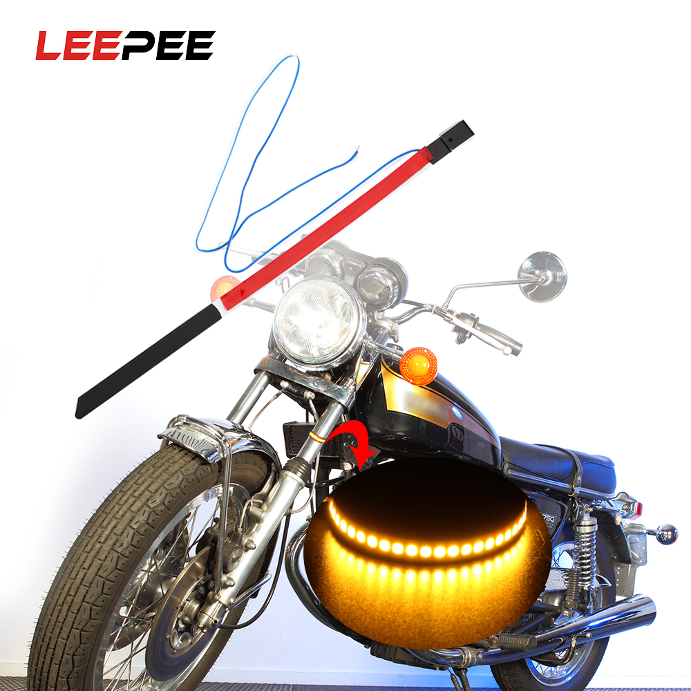 LEEPEE Motorcycle Turn Signal Lights LED Modified Lamp Motorbike Absorber Ring Light Universal Indicator Lights