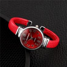 Роскошные женские рождественские часы для женщин модные красные