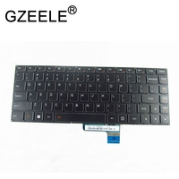 GZEELE teclado en inglés para LENOVO IDEAPAD 500s-13isk 700-14ISK E31-70 E31-80 U31-70 Yoga 2 13 Teclado táctil negro nos retroiluminada