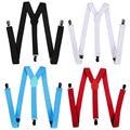 Women Clip-on Braces Elastic Slim Suspender Y-Back Suspenders Pants Jeans Braces western-style trousers man's braces strap W1