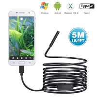 720 P Typ-c Endoscop Android USB 8mm 1/3/5/7/10 M Kamera inspektion Kamera PC Android Telefon Endoskop Rohr Kamera Endoskop