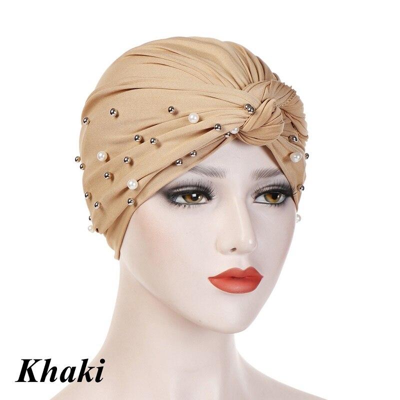 Headband-Indian-Muslim-Hijab-Islamic-Jersey-Beads-Cap-Stretchy-Pleated-Women-Turban-Hat-Knot-Head-Wrap(8)