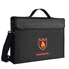 Охранная огнеупорная сумка и батарейный мешок, защищает ваши ценные вещи, документы, деньги, ювелирные изделия, аккумулятор, застежка-молния, 380*280*75 мм