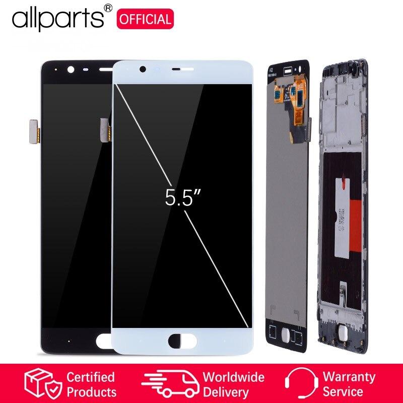 AMOLED lcd original Pour OnePlus 3 Affichage écran tactile avec Cadre Pour Oneplus 3 écran lcd Remplacement Un Plus 3 A3000 a3003