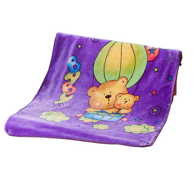Impressão bonito Dos Desenhos Animados Cobertores Do Bebê para Meninos Meninas Inverno Quente Unisex Newborn Segure Cobertores Novo Macio Saco de Dormir com Zíper