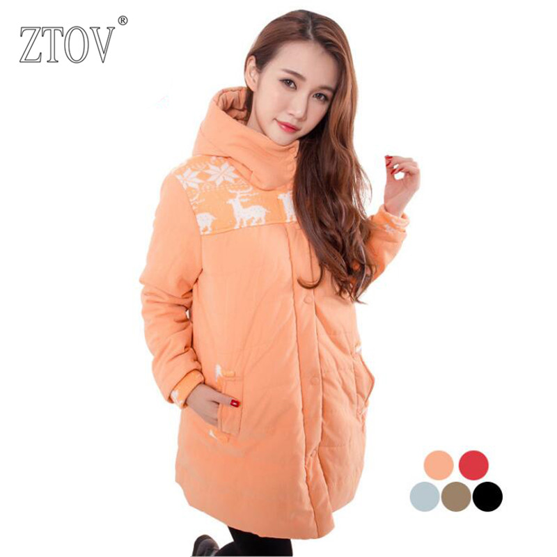 ZTOV Winter Pregnant women Coats Thicken Maternity down jacket Cotton clothes for pregnancy women Overcoat clothing outwear
