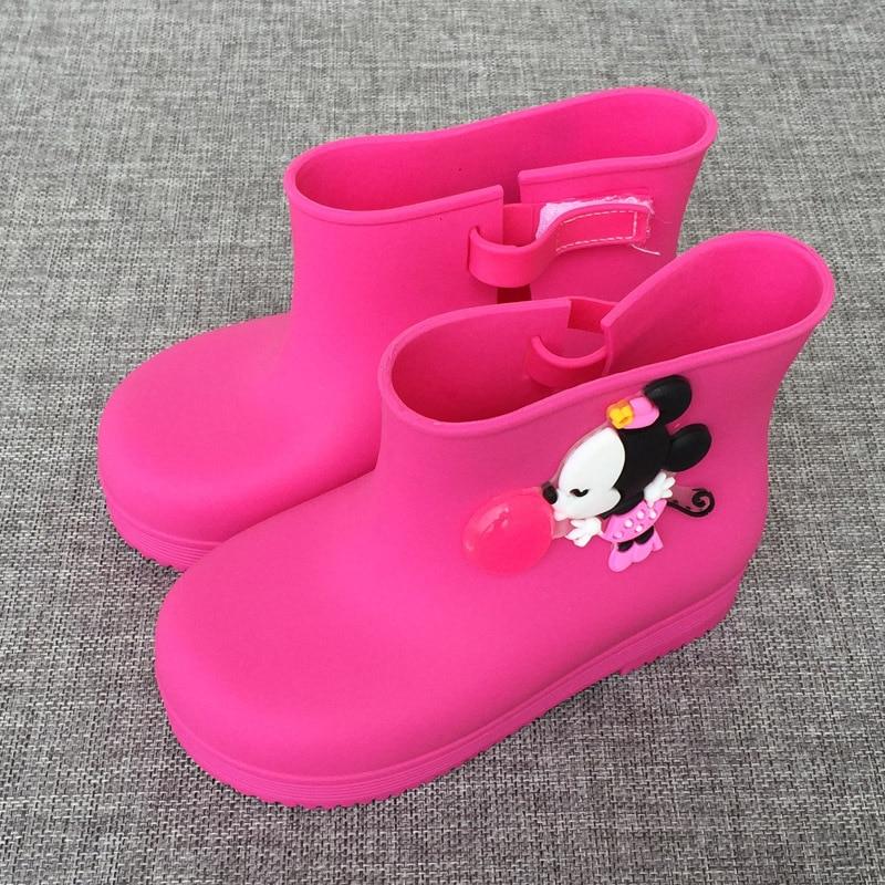 2017 Mini Melissa Mickey Rain Boots Cartoon Jelly Boots Mickey Minnie Children Rain Boots Baby Boots