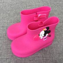2017 Mini Melissa Mickey Bottes de Pluie de Bande Dessinée De Gelée Bottes Mickey Minnie Enfants Pluie Bottes Bébé Bottes Melissa Filles Sandales