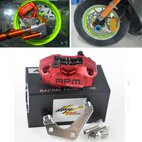RPM CNC Electric Motorcycle Scooter Brake Calipers 200mm 220mm Disc Brake Pump Adapter Bracket Universal For
