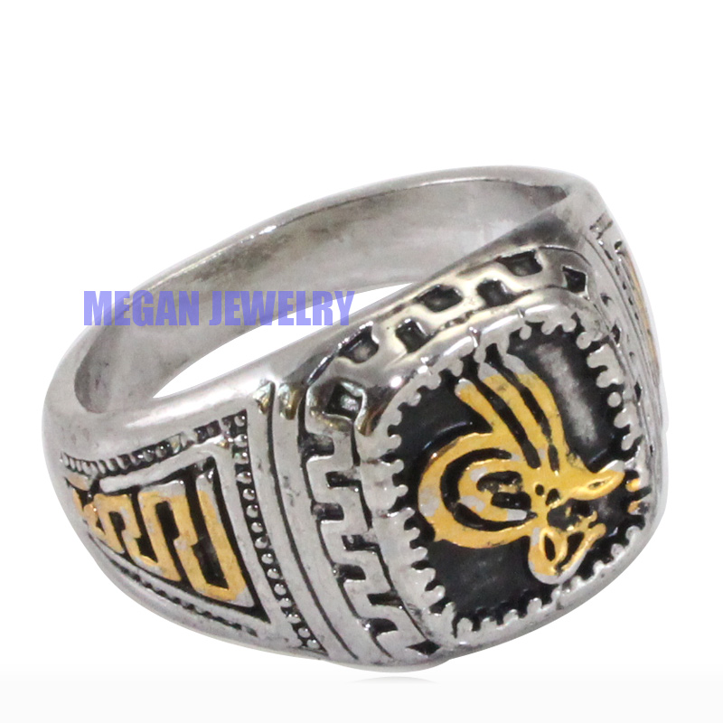 Ottoman silver plated ring. Islamic symbol ring. Turkish history muslim jewlery