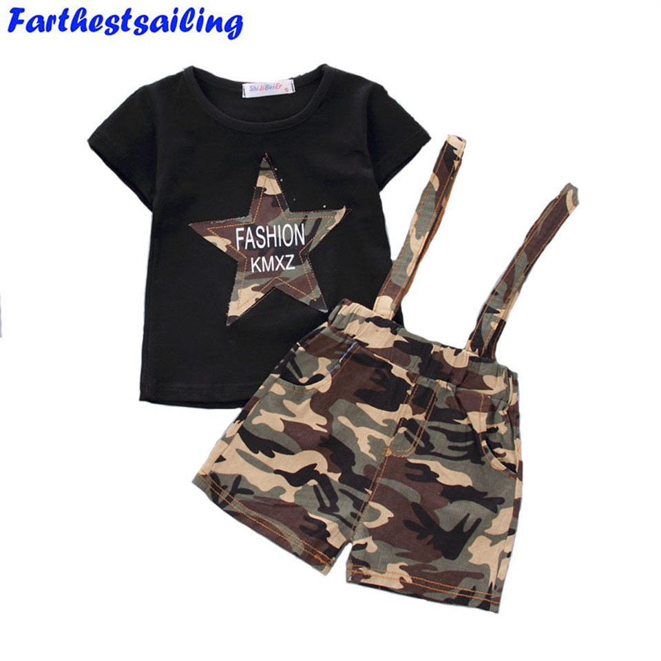 Baby Boy Clothing Sets Summer 2018 New Arrival Newborn Boys Clothes Set Bebe Clothing Set Shirt+Camouflage Pants Infant Clothes t shirt tops cotton denim pants 2pcs clothes sets newborn toddler kid infant baby boy clothes outfit set au 2016 new boys