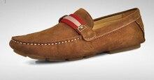 НОВЫЙ США 6-10 Замши Скольжения На Удобных копейки вождения Loafer мужская обувь лодки