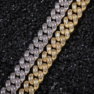 Image 3 - BLING KING Luxury Iced Cubic Zirconia Miami Cuban Link Chain สร้อยคอ Hiphop Sqaure CZ แฟชั่นคุณภาพสูงเครื่องประดับ