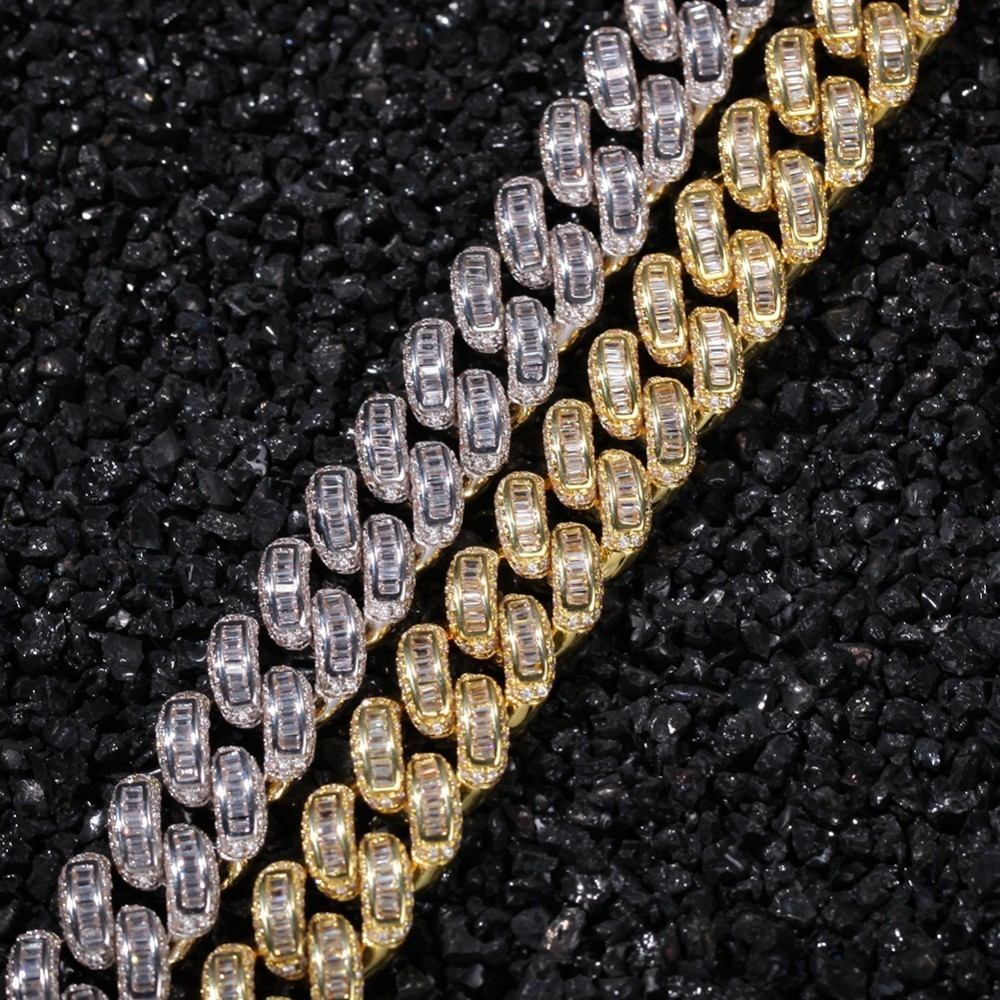 Image 3 - THE BLING KING Luxury Iced Cubic Zirconia Miami Cuban Link Chain  Necklaces Hiphop Sqaure CZ Fashion Top Quality Jewelry ChainsChain  Necklaces
