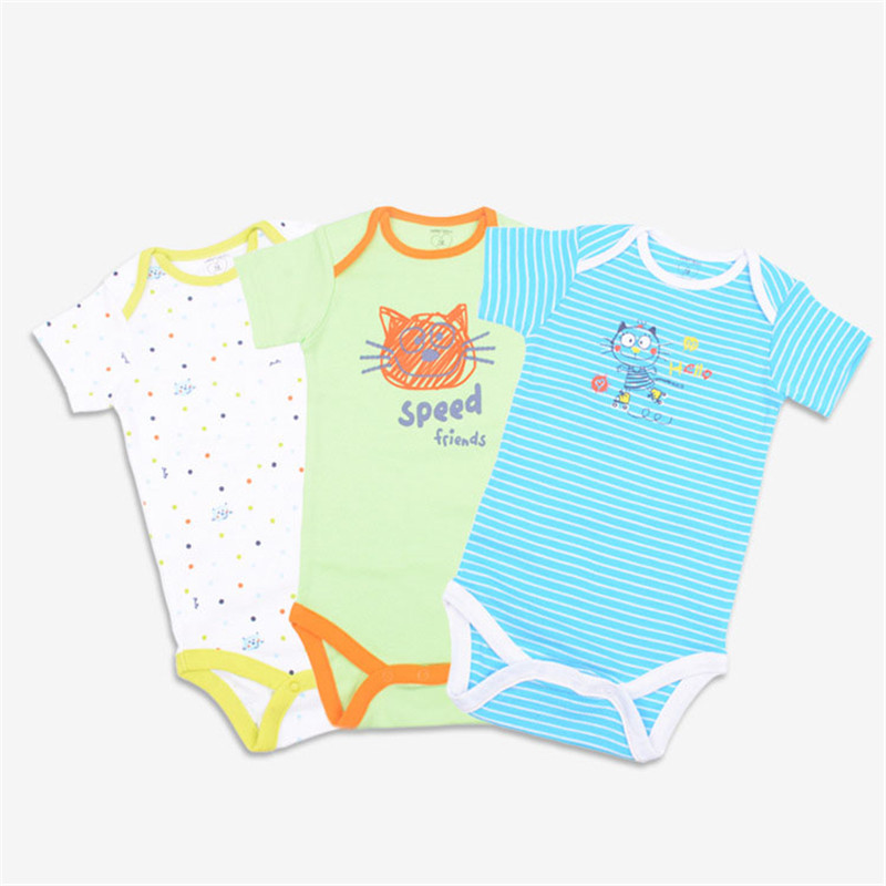 3PCS Baby Girl Clothes Summer Newborn Baby Clothes Cotton Baby Romper Short Sleeve Infant Jumpsuits Roupas Bebe Baby Boy Clothes 2017 summer baby girl romper infant girls formal clothing dress cotton jumpsuit ropa bebe short sleeve newborn baby girl clothes