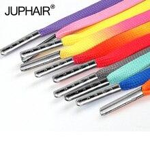 3 Pairs Colorful Gradient Lace Flat Canvas Mint Heel Caramel Colors Change Shoelaces Laces High-grade Metal Head
