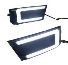 Стайлинга автомобилей СИД DRL Дневного Бордовый передние противотуманные бампер лампа Для SKODA OCTAVIA 2015 2016 2017 2 ШТ.