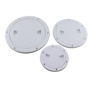 Image 2 - Cubierta de escotilla redonda de plástico para barco, cubierta de escotilla de plástico para barco marino RV, tornillo blanco, placa de inspección de cubierta