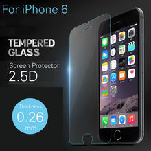 2pcs lot 9H Hardness Premium Tempered Glass Screen Protector for iPhone 6 Toughened explosion proof film