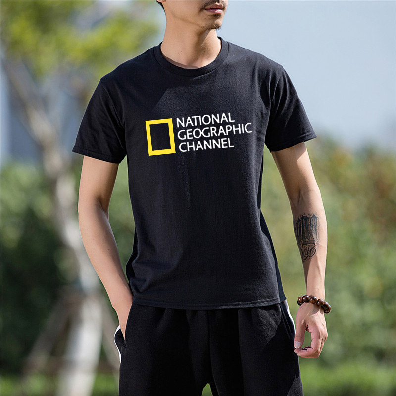 Newest Fashion Funny NATIONAL GEOGRAPHIC CHANNEL uniform Funny Cotton   T     Shirt   for men