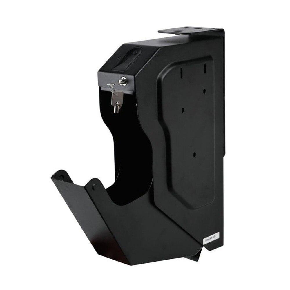 Biometrico di Impronte Digitali Cassaforte In Acciaio laminato a Freddo di Sicurezza Pistola Cassaforte Portatile Chiave Scatola di Immagazzinaggio di Monili di Oggetti di Valore