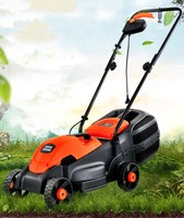 220V Electric Pusher Lawn Mower Horticultural Tool Household Weeder Garden Grass Cutting Machine