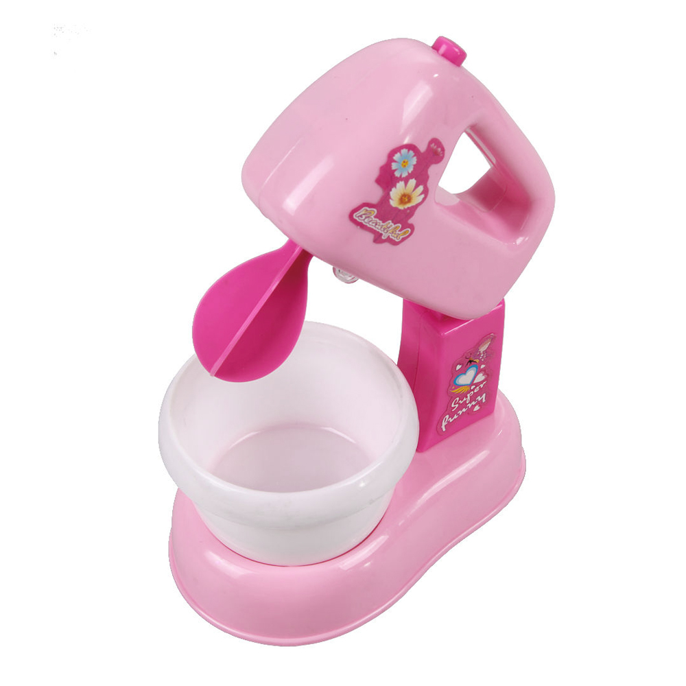 Kids Girls Educational Emulational Electric Blender Mixer Toy Pretend Play Kitchen Toys Christmas Gift for Over 3 Years Old Kids