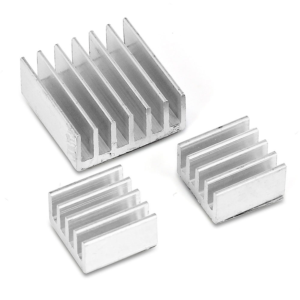 3 PCS Aluminium Heatsink Cooling For Raspberry Pi 3 Model B / Pi 2 Model B / Pi 2 B + Plus VGA RAM Memory Cooler Heat Sinks