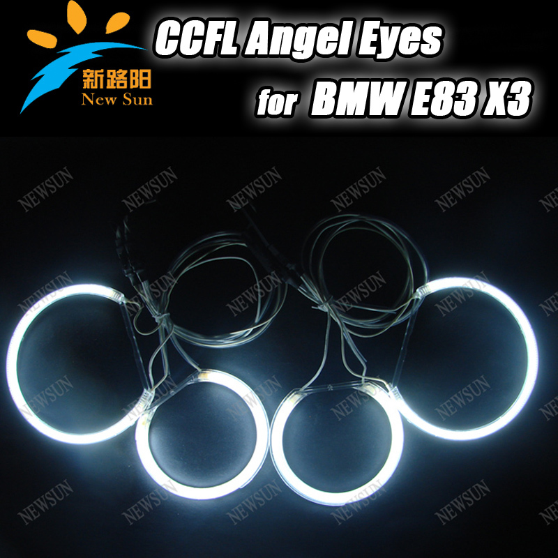 High power CCFL Headlights XENON CCFL ANGEL EYES HALO rings 8000K ccfl auto lamps for BMW E83 X3 алюминиевое правило профиль трапеция 1м сибин 10725 1 0