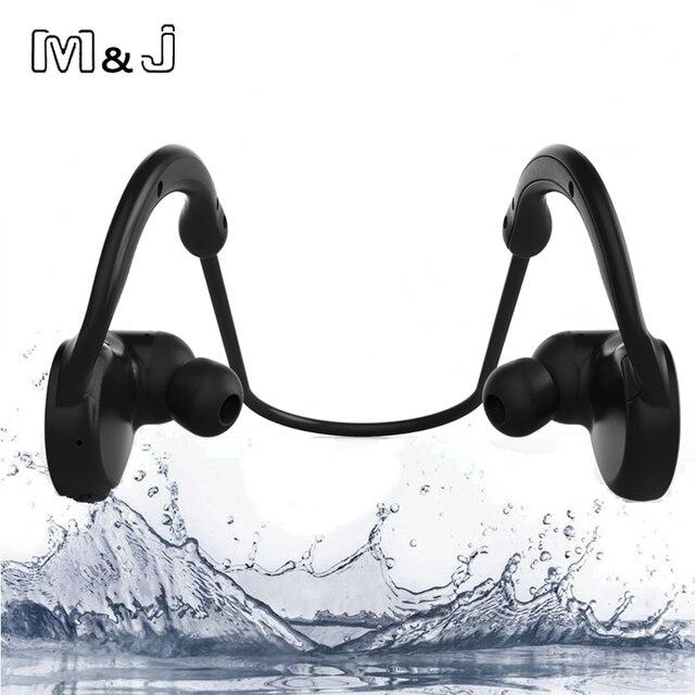 M & J M11 IPX7 étanche sans fil Bluetooth casque stéréo Sport nager écouteur avec Microphone pour iPhone Samsung Xiaomi baigner
