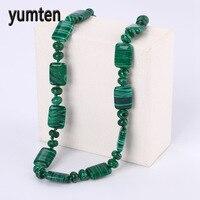Yumten Brand Nature Malachite Women Short Necklace Ladies Stone Beads Fashion Jewelry Bijoux Femme Collier Luxe