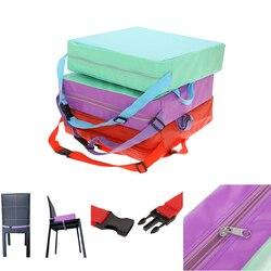 Chrilren увеличивающая Подушка для стула мягкая детская обеденная Подушка Регулируемая Съемная подушка для стула подушка для коляски Подушка ...