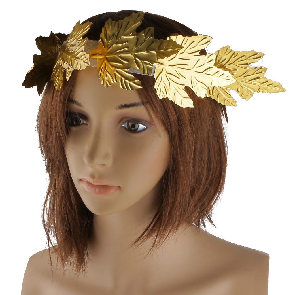 2019 Novelty Golden Leaf Headband Roman Greek Goddess Laurel Wreath Fancy Dress Stage Costume Headband Head Decor Headdress