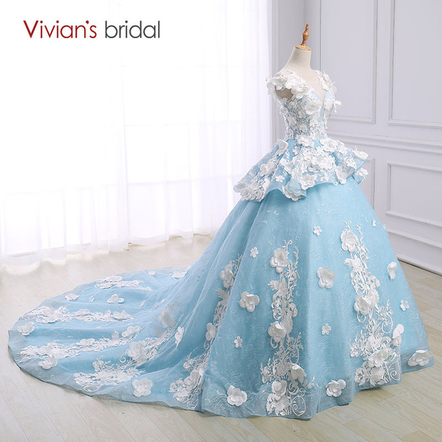 Vivian\'s Bridal Custom Made Wedding Dress Ball Gown Cap Sleeve ...