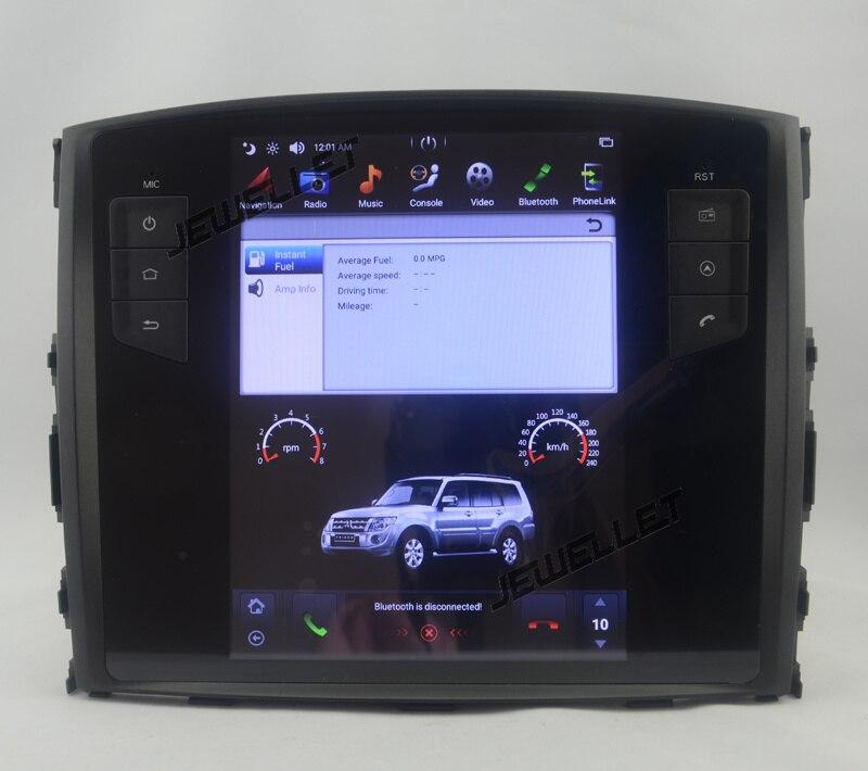 10.4 tesla style vertical écran android 7.1 Quad core De Voiture GPS radio Navigation pour Mitsubishi Pajero 2007-2016
