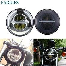 """FADUIES 5 3/"""" мотоцикл налобный фонарь 5,75 дюймов светодиодный фонарь для мотоцикла улица 500 XG500 железо 883 низкая XL883 Dyna Sportsters"""