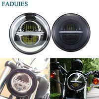 FADUIES 5 3/4 motorcycle Headlamp 5.75 Inch LED Headlight For Harley Street 500 XG500 Iron 883 Low XL883 Dyna Sportsters