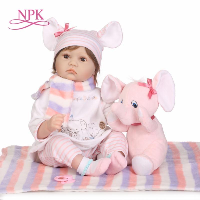Lifelike Silicone Reborn Baby Menina Alive 23 Newborn Baby Dolls soft Vinyl body Wear bebe Infant