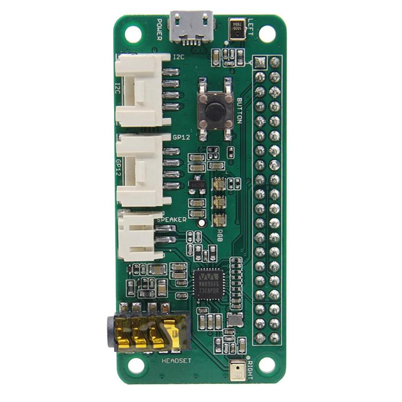 Expansion Board Professional 2-Microphone Pi HAT JST2.0 Speaker 3.5mm Audio Jack 2 Grove Interfaces for Raspberry Free Shipping free shipping pure nature raspberry extract raspberry ketones powder 500mg x 100caps