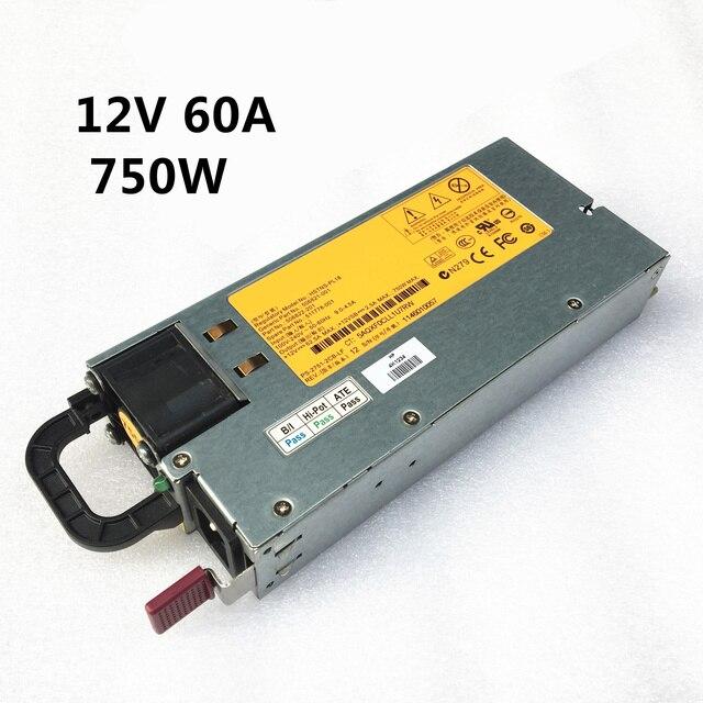 DL380G6 שרת כוח HSTNS PL18 DPS 750RB 506821 001 511778 001 12V 62A 750W מיתוג אספקת חשמל 100% בדיקה קפדנית