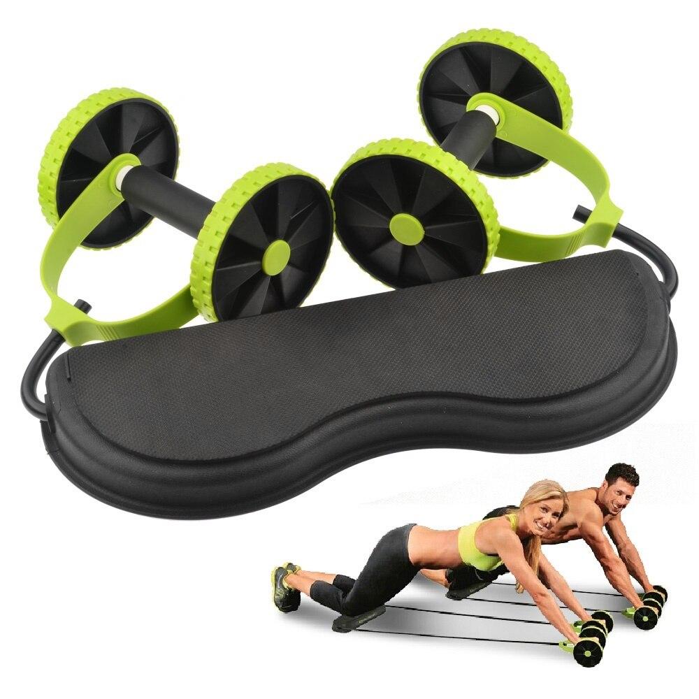 Abdominal cintura adelgazamiento entrenador ejercitador núcleo doble aptitud rueda hogar herramienta de entrenamiento gimnasio mujeres hombres