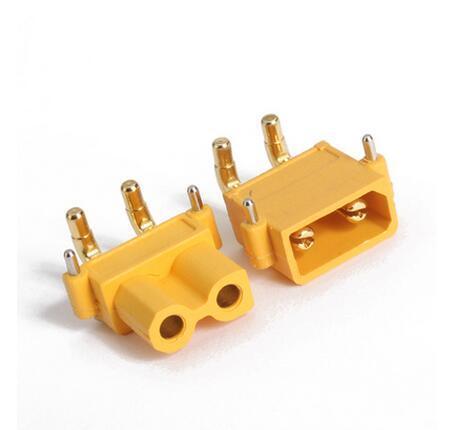 AMASS XT30PW Banana dorada XT30 conector de enchufe de ángulo recto macho hembra ESC Motor PCB placa conector de enchufe para RC modelo