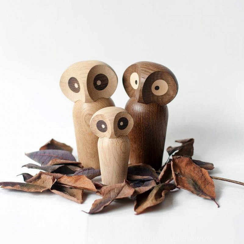 Nordic design animal lovely wooden elephant owl miniature Home Decor Figurines table Decoration kids room Chrismas Gifts