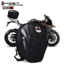 GHOST RACING Motorcycle Tail Bags Back Rear Seat Helmet Kit Travel Bag Motorbike Scooter Sport Luggage Rider Shoulder